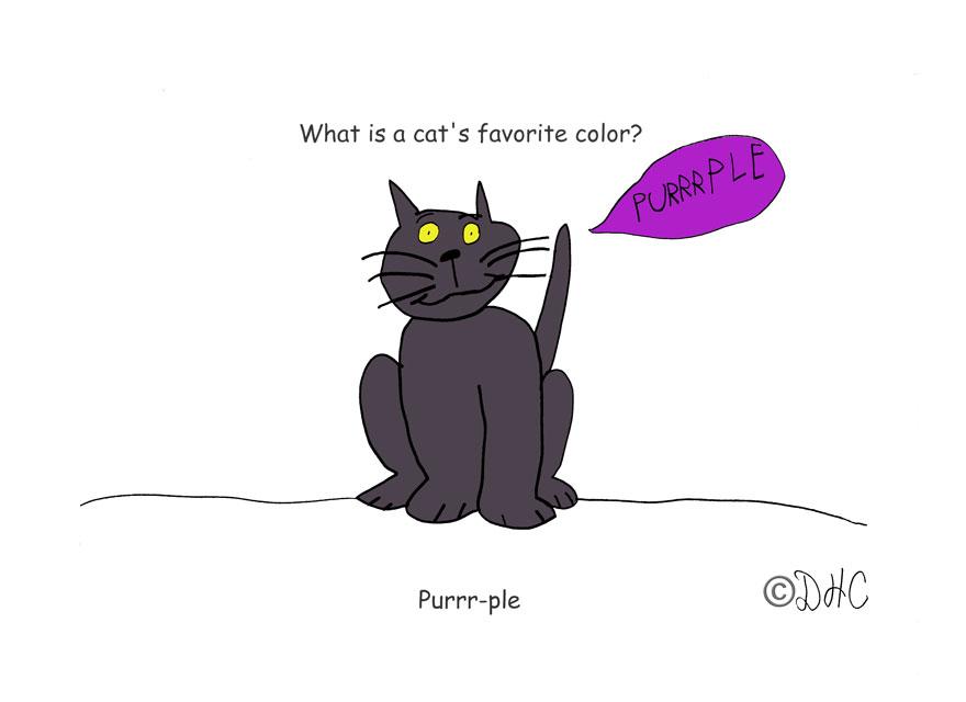 Cat Purple